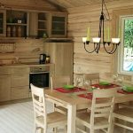 Дизайн маленькой кухни в деревянном доме