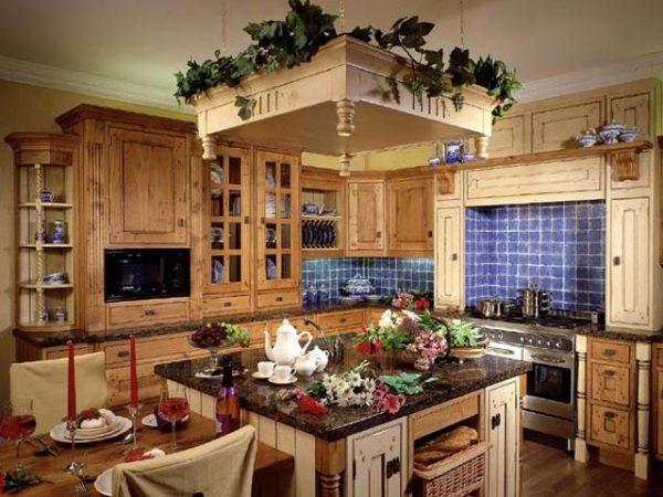 Дизайн кухни в загородном доме: английский кантри