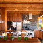 Светильники из керамики на кухне