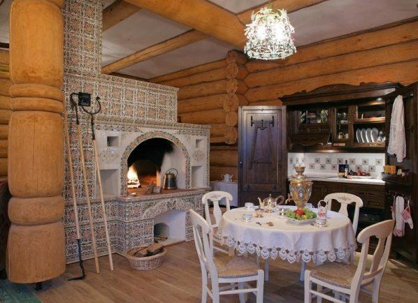 Интерьер кухни в стиле русское кантри
