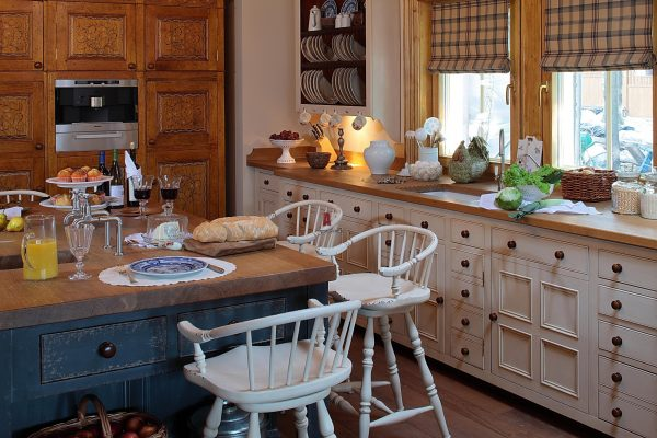 Английский стиль в интерьере кухни