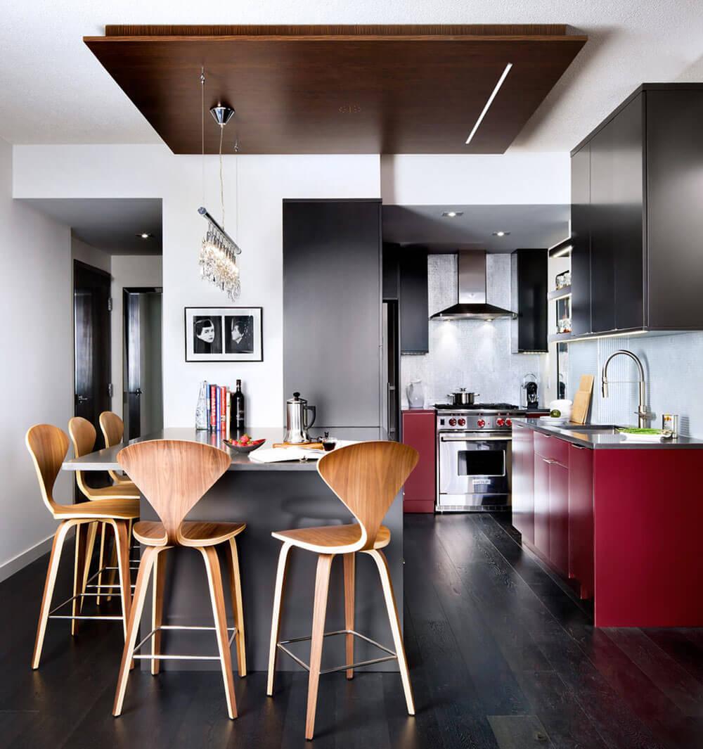 чёрно-красная кухня