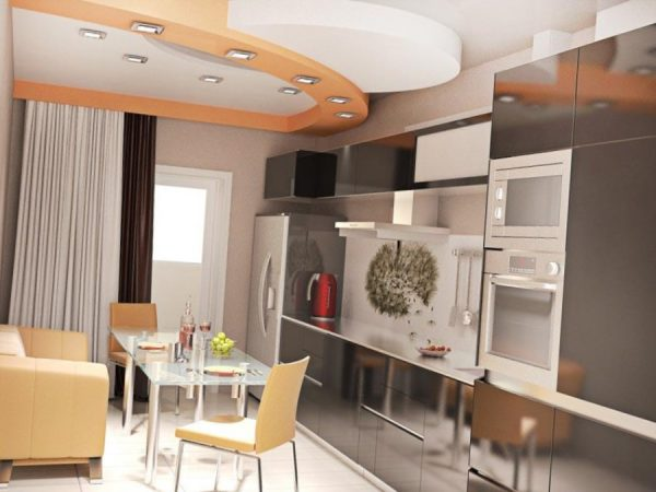 интерьер кухни 13 кв. метров