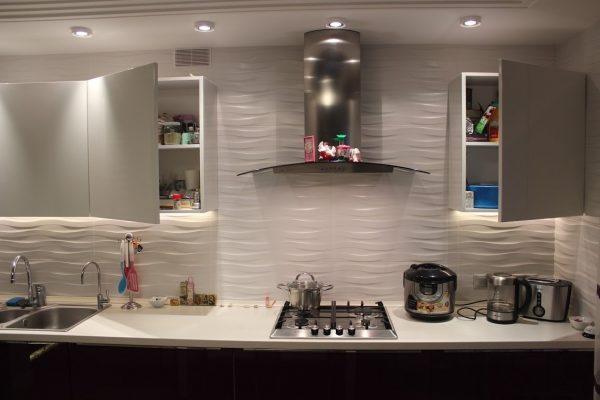 Дизайн кухни 15 кв м фото новинок 2017 рельефная плитка
