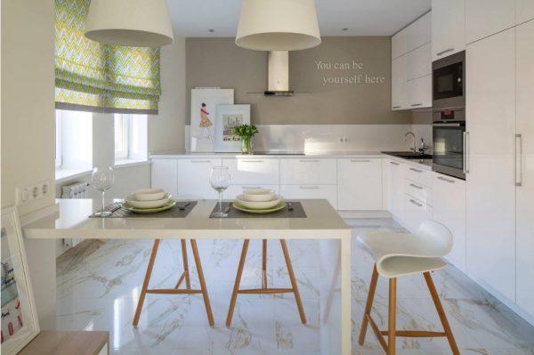 кухня белая в современном стиле