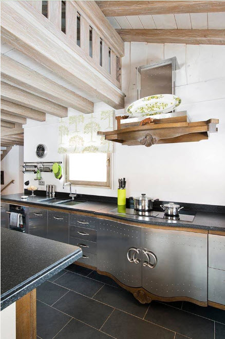 дизайн кухни хай тек 15 кв. метров 2017 года