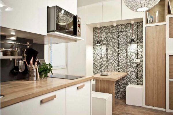 функциональная кухня 13 кв. метров