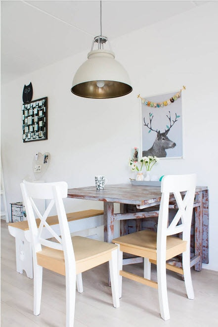 дизайн кухни 15 кв. метров 2017 года с раскладным столом
