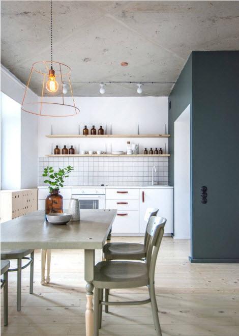 кухня 13 кв. метров с обеденным столом