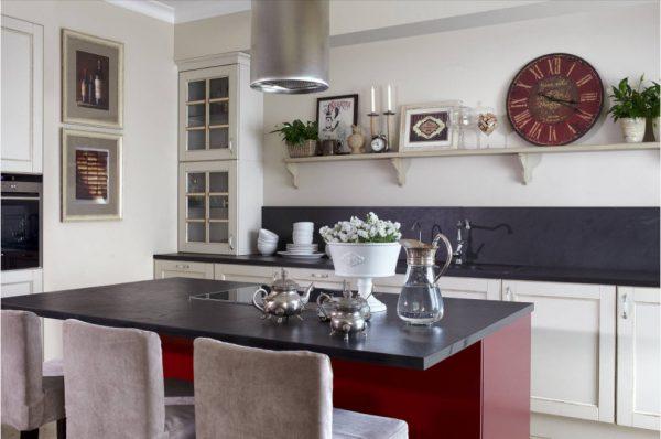 дизайн кухни прованс 15 кв. метров 2017 года