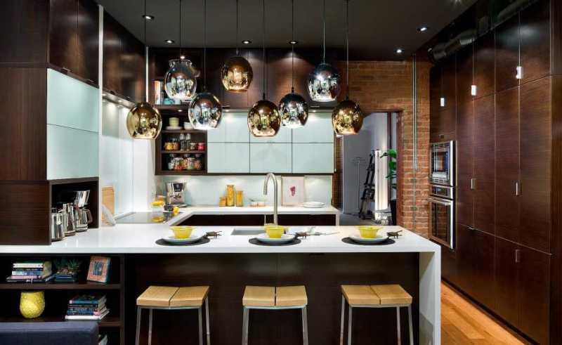Кухни фото дизайн 2017 года новинки с барной стойкой