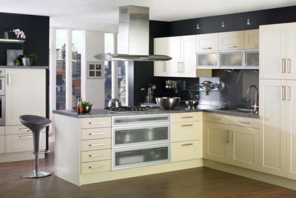 дизайн угловой кухни классика