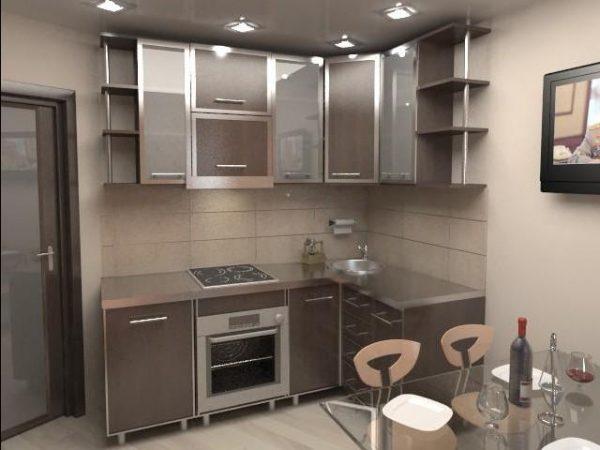 кухня 5 кв.м в хрущёвке