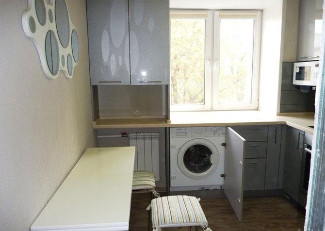 Кухня в хрущевке 5 кв м с холодильником — фото идеи