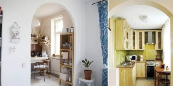 кухня 5 кв.метров с аркой