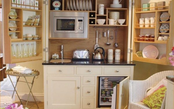 функциональный буфет на кухне 5 кв.метров в хрущёвке
