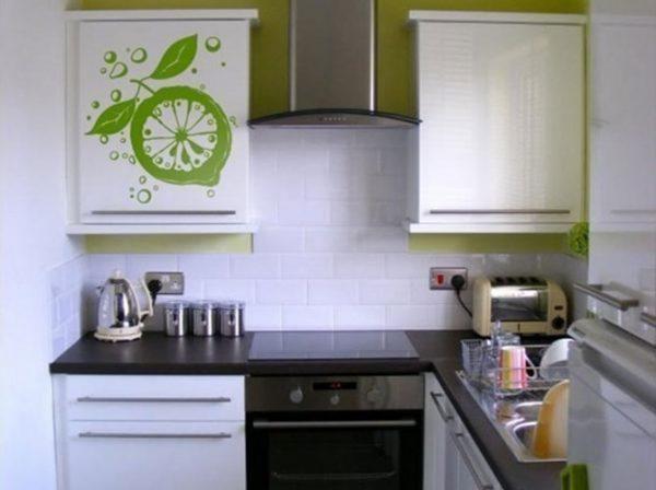 прямая кухня 5 кв.метров в хрущёвке