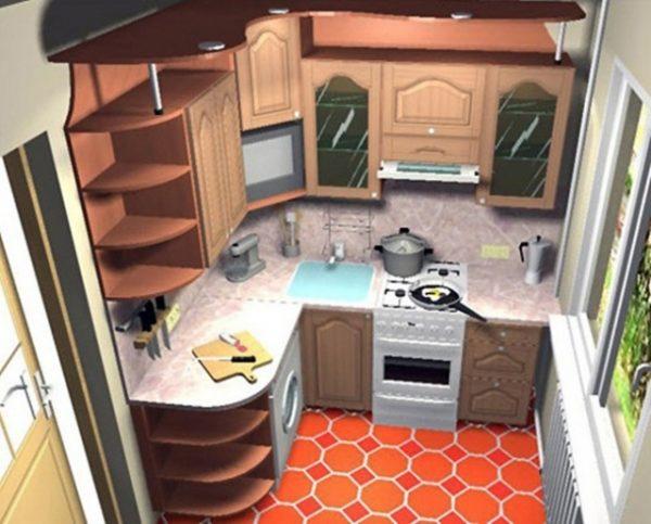 угловая кухня 5 кв.метров