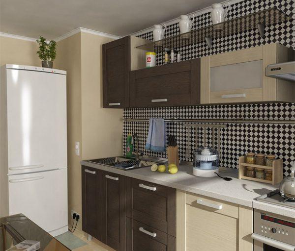 недорогая кухня в частном доме