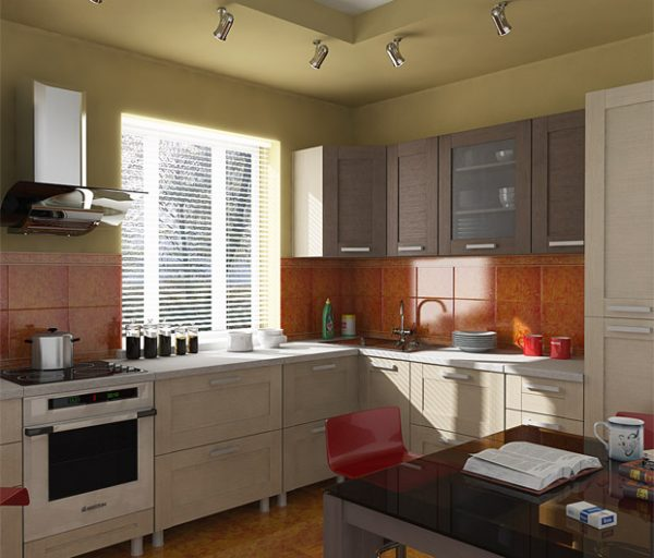 кухня экономкласса в частном доме