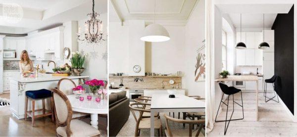потолок кухни-гостиной в квартире студио
