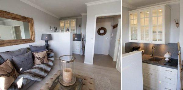 кухня гостиная в квартире студио