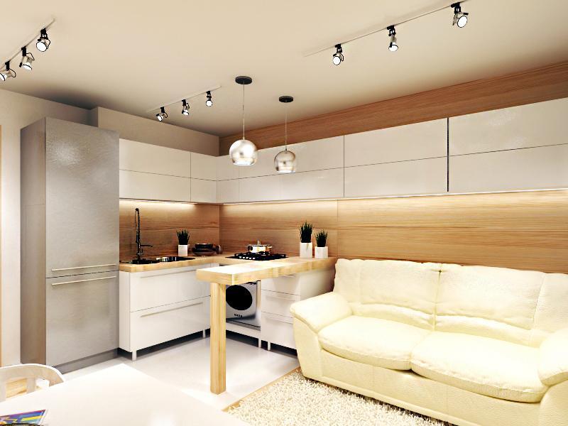 Дизайн кухни гостиной 24 кв м