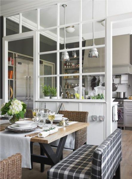 кухня гостиная в квартире студио с перегородкой