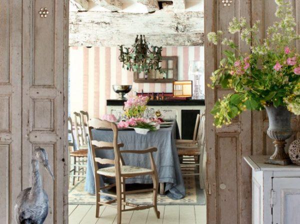 стильный интерьер кухни в стиле прованс