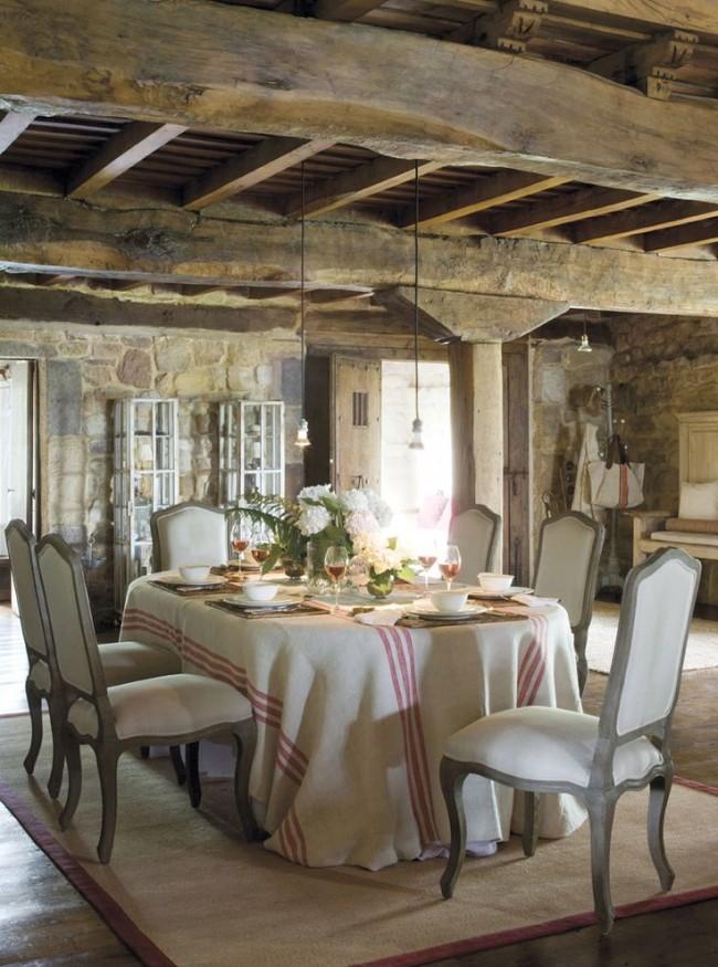 деревянная кухня в стиле прованс