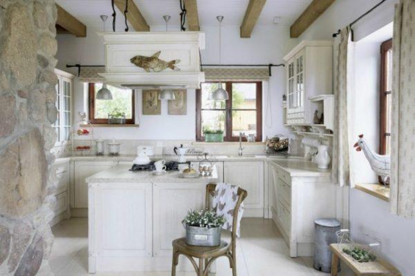 пол на кухне прованс