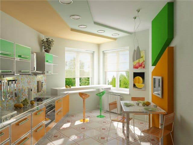Кухня дизайн окно эркер