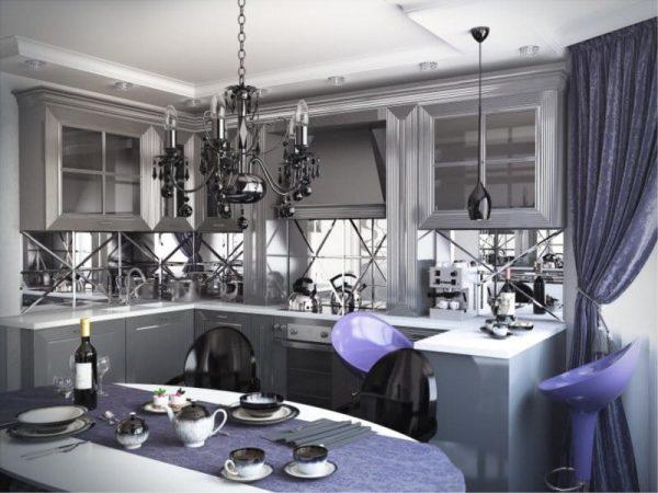 рабочая зона в эркере на кухне