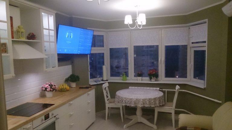 Дизайн квартиры с эркером на кухне