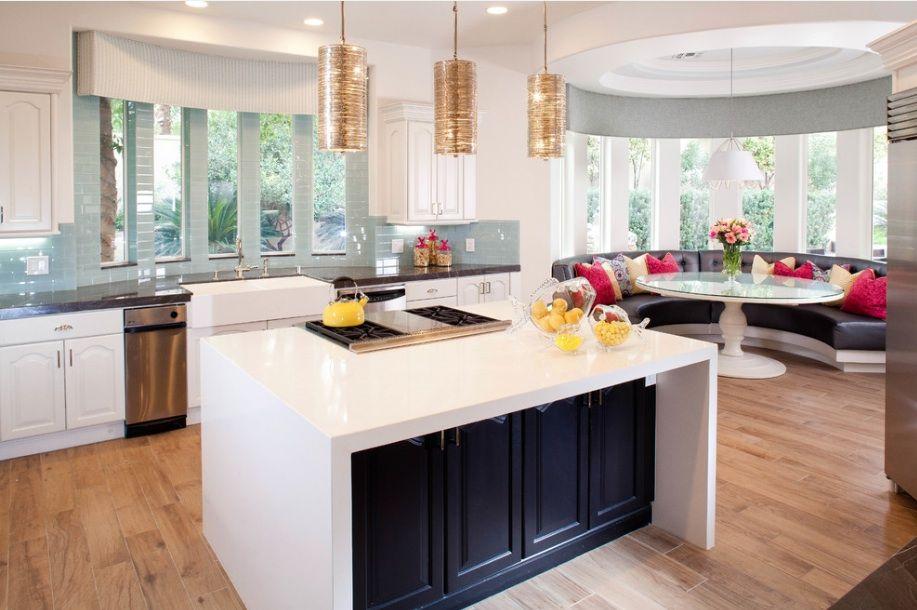 Дизайн кухни с эркерным окном