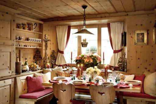 "кухня в стиле ""шале"""