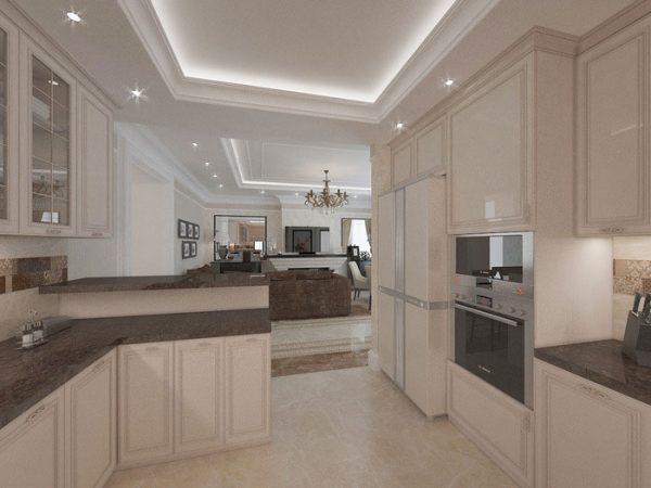 планировка кухни в частном доме фотогалерея