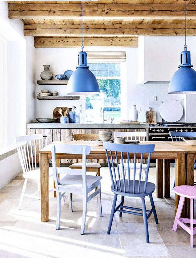 кантри на кухне в доме
