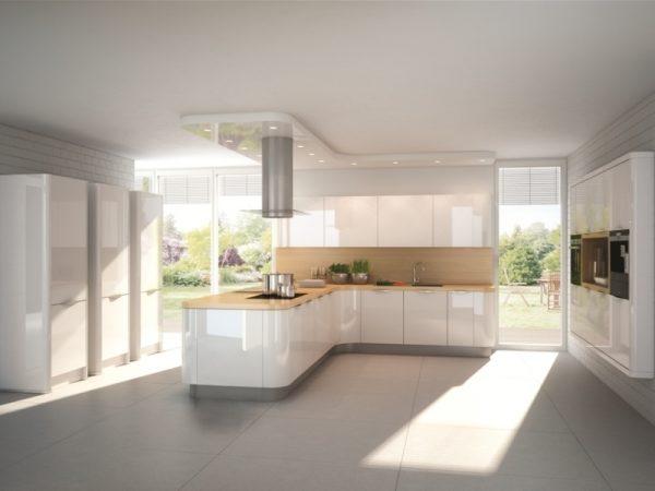 Проходная кухня в частном доме