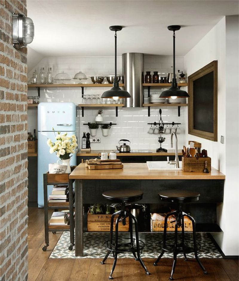 Дизайн кухни в стиле лофт — фото современных идей