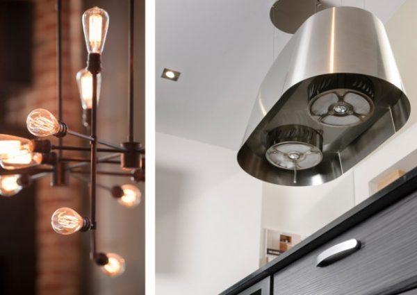 светильники - кухня в стиле лофт