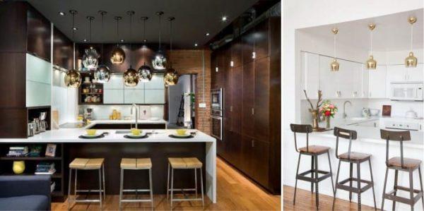 освещение на кухне в стиле модерн