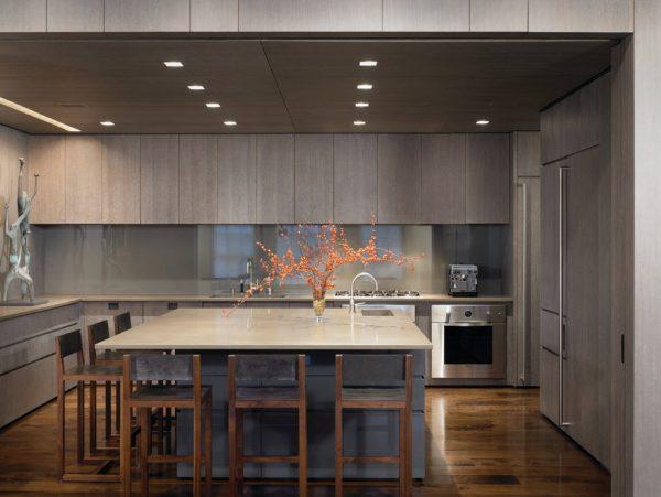 кухня в стиле модерн под светлое дерево