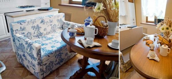 кухонный уголок с диваном