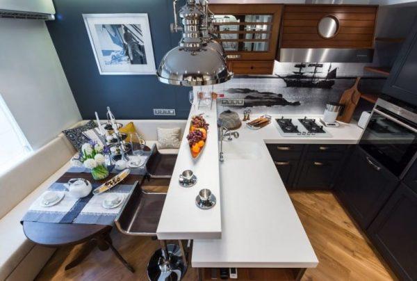 кухонный уголок у барной стойки