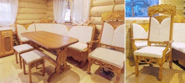 кухонный уголок со стулями