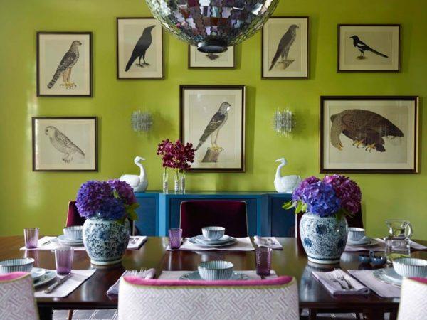 стена цвета лайм