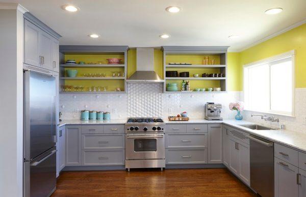 стена на кухне лайм