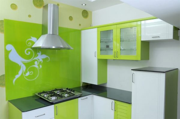 Кухня цвета лайм с каким цветом сочетается