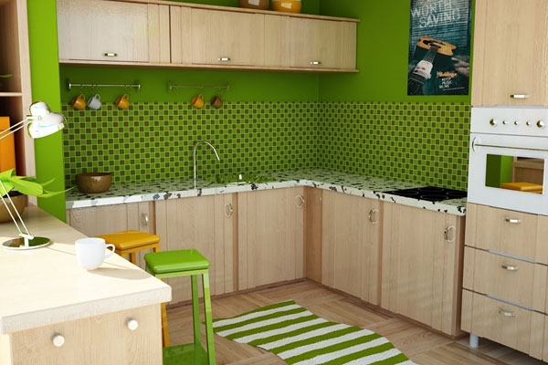 цвета лайм на кухне